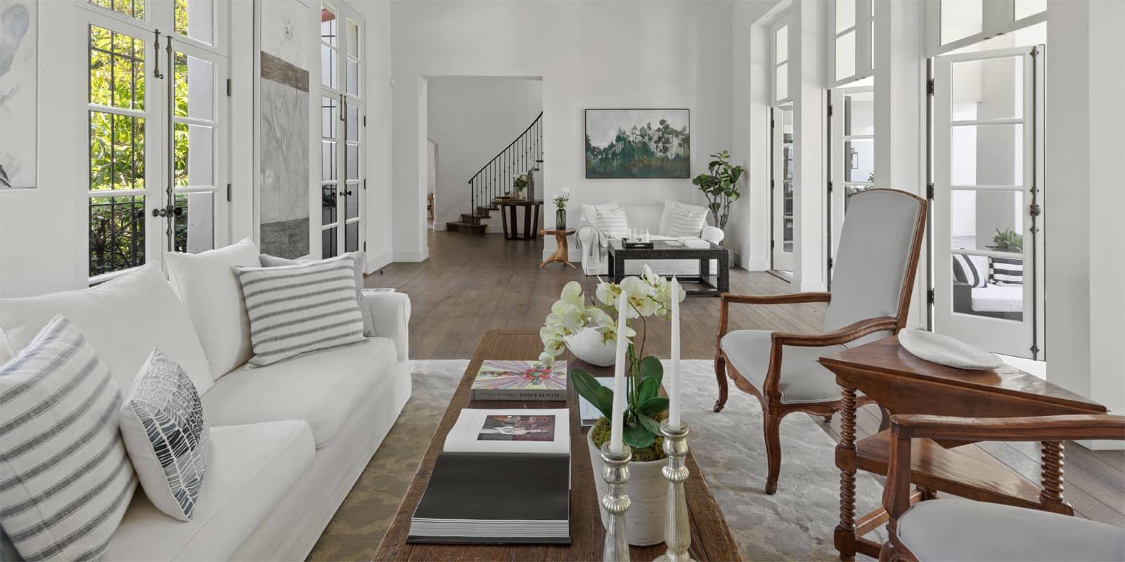 inside a luxury home in Los Angeles